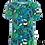Thumbnail: PaaPii VISA organic Short Sleeve Top Peas   Petrol and Green