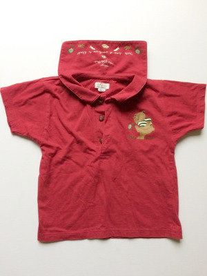 BABYMINI by CATMINI PreLoved red teddy bear short sleese top | 74cm