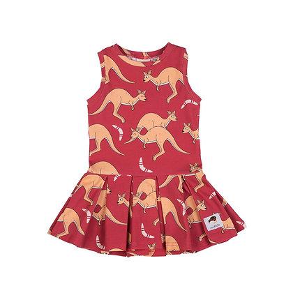 MULLIDO organic Tennis Style Dress | Red Kangaroo