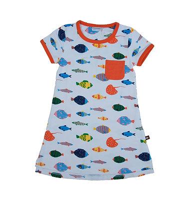 MOROMINI organic Short Sleeve Dress | Fish Life