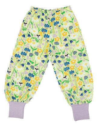 DUNS of Sweden organic Baggy Pants Midsummer Flowers | Green