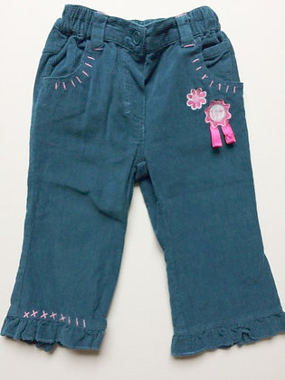 TOTS turquoise cord trousers   6-9 months