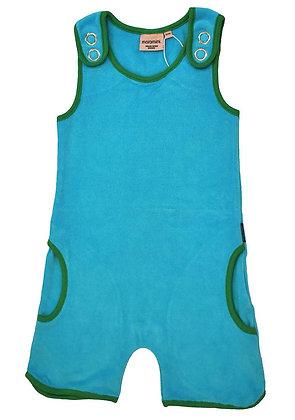MOROMINI organic Short Playsuit (Terry) | Blue