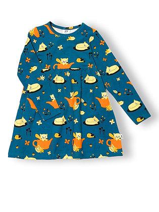JNY organic Long Sleeve Sweetdress | Autumn Cat