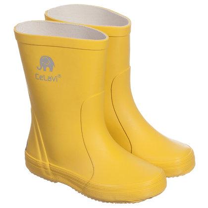 CeLaVi Natural Rubber Rain Boots | Yellow