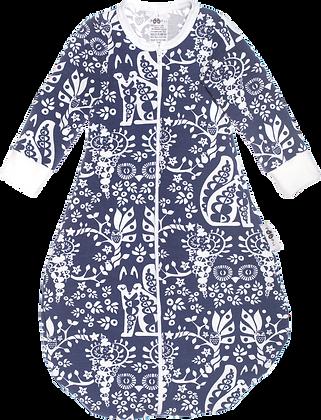 PaaPii UNTUVA organic Sleeping Bag, Mielikki | Blueberry