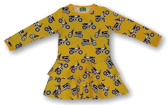 NAPERONUTTU organic Long Sleeve Frill Dress | Mopeds