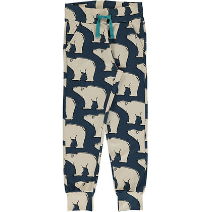 MAXOMORRA organic Sweatpants | Polar Bear