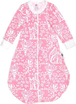 PaaPii UNTUVA organic Sleeping Bag, Mielikki | Light Pink