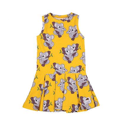 MULLIDO organic Tennis Style Dress | Yellow Koala