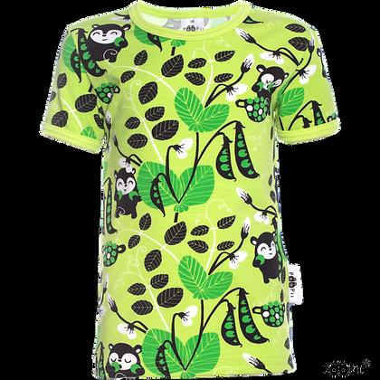 PaaPii VISA organic Short Sleeve Top Peas | Apple and Green