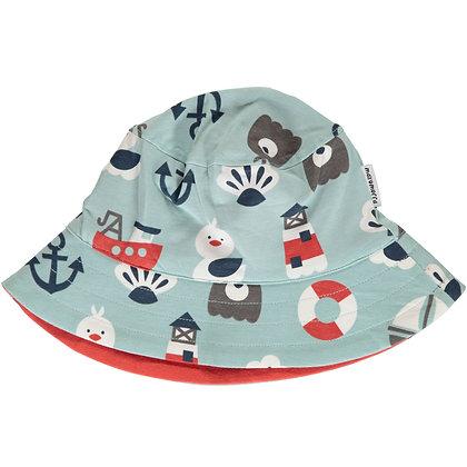 MAXOMORRA organic Sun Hat | Blue Ocean