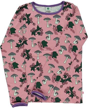 SMAFOLK organic Long Sleeve Top, Mushrooms   Blush
