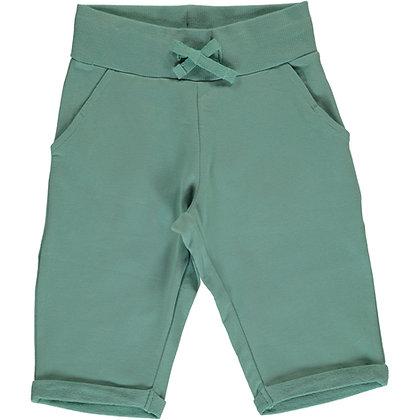 MAXOMORRA organic Sweatshorts Knee | Pale Army