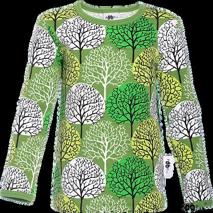 PaaPii ULJAS organic Long Sleeve Top, Seasons | Forest