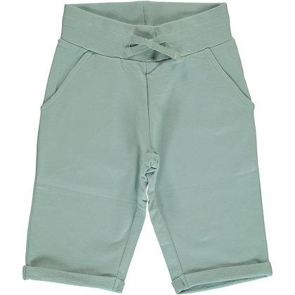 MAXOMORRA organic Sweatshorts Knee | Pale Blue