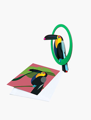 Studio ROOF Pop out card   Swinging Toucan