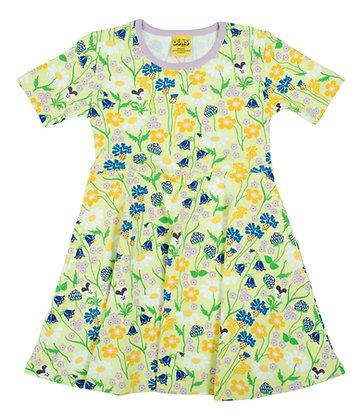 DUNS of Sweden organic Skater Dress Midsummer Flowers | Green