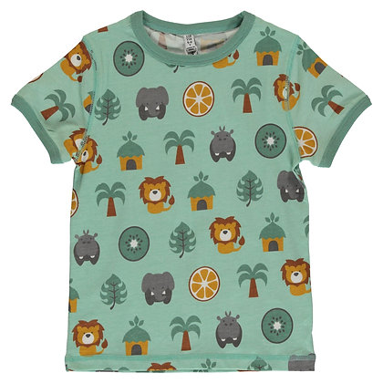 MAXOMORRA organic Short Sleeve Top | Jungle