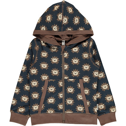 MAXOMORRA organic Cardigan Hood | Hedgehog