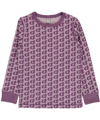 MAXOMORRA organic Long Sleeve Top | Squirrel