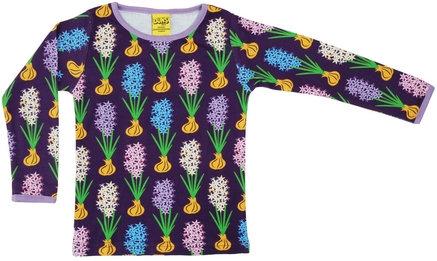 DUNS Sweden organic Long Sleeve Top Hyacinth | Dark Purple