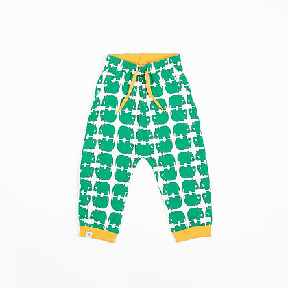 ALBA of Denmark Lucca Baby Pants | Pepper Green Wanna be an Animal