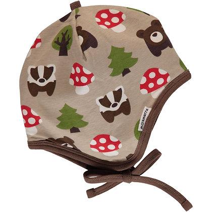 MAXOMORRA organic Helmet Hat (Velour Lining) | Forest