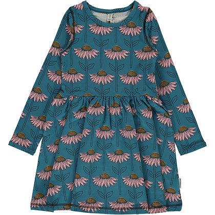 MAXOMORRA organic Long Sleeve Dress Spin | Echinacea