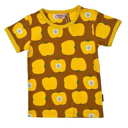 MOROMINI organic Short Sleeve Top | Apple Yellow