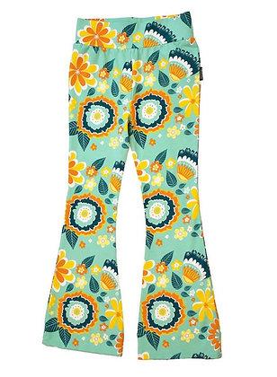 MOROMINI organic 70's Pants | Mumbai Flower Market Green