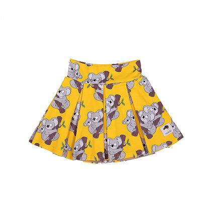 MULLIDO organic Tennis Style Skirt | Yellow Koala