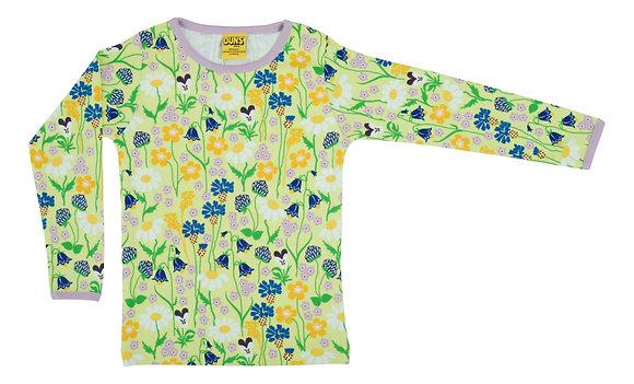 DUNS Sweden organic Long Sleeve Top Midsummer Flowers | Green