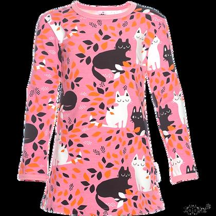 PaaPii VIENO organic Long Sleeve Tunic, Hide and Seek | Light Pink and Orange