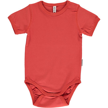 MAXOMORRA organic Short Sleeve Body | Rusty Red