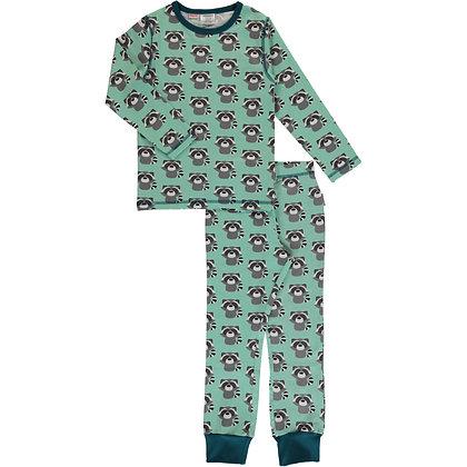 MAXOMORRA organic Pyjama Set Long Sleeve   Raccoon