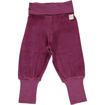 MAXOMORRA organic VELOUR Rib Pants | Plum