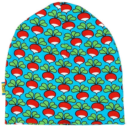 DUNS Sweden organic Double Layer Hat Radish | Turquoise