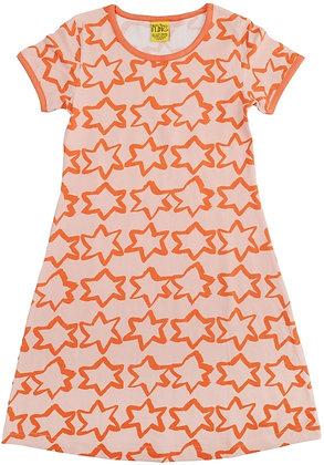 DUNS More Than a Fling organic Short Sleeve Dress | Stars Coral