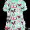 Thumbnail: PaaPii VIOLA organic Short Sleeve Tunic, Butterflies | Mint and Pink
