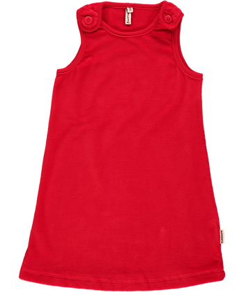 MAXOMORRA organic Dress Button (Velour) | Red