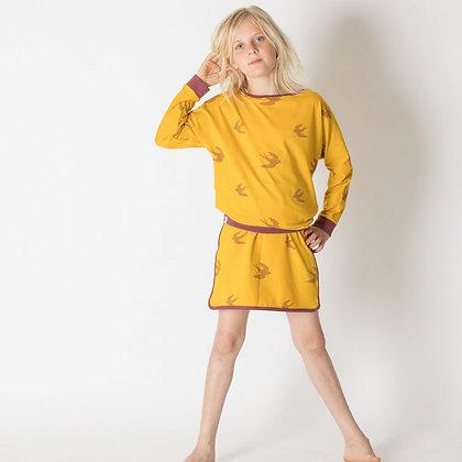 ALBA of Denmark Ghita blouse | Nugget Gold Big Bird