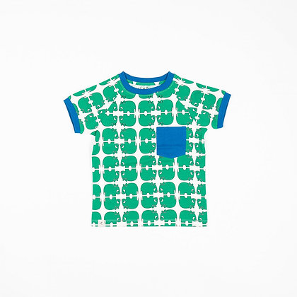 ALBA of Denmark Short Sleeve Top Simon | Pepper Green Wanna Be an Animal