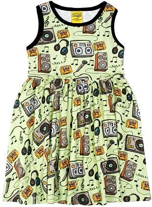 DUNS Sweden organic Sleeveless Dress | Music