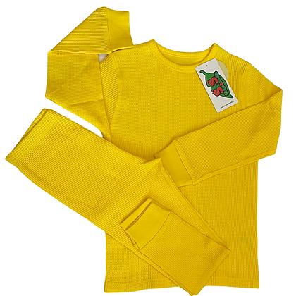 Slugs&Snails organic Waffle Cotton Set   Bright Yellow