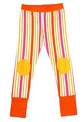 MOROMINI organic Leggings | Orange Stripes