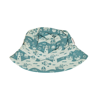 MAXOMORRA organic Sun Hat | Ocean Landscape