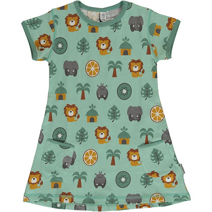 MAXOMORRA organic Short Sleeve Tunic | Jungle