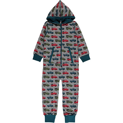 MAXOMORRA organic One Piece Suit with Hood | Truck