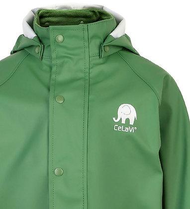 CeLaVi Basic Rainwear Jacket | Elm Green